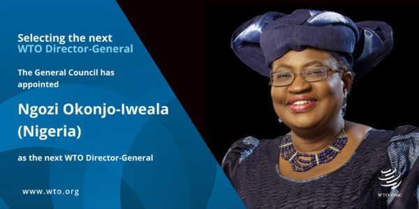 Ngozi Okonjo-Iweala is Officially World Trade Organization's Director-General