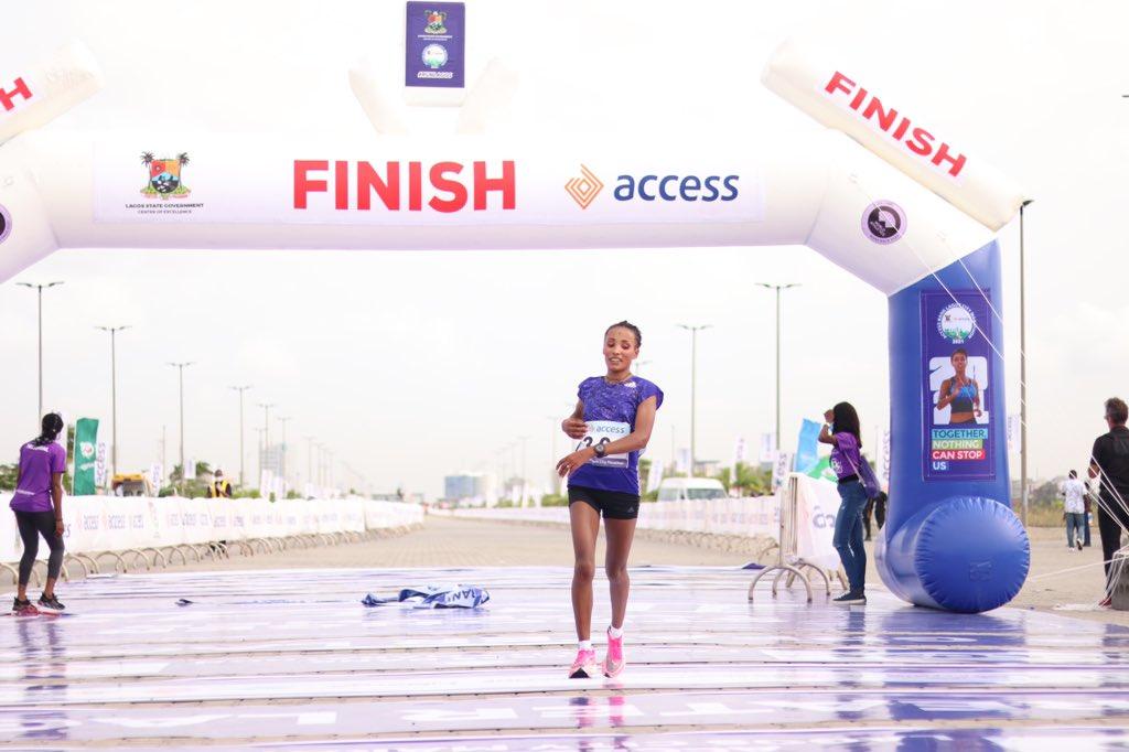 Ethiopia's Meseret Dinke Wins Lagos Metropolis Marathon 2021 Feminine Class Meseret Dinke 3