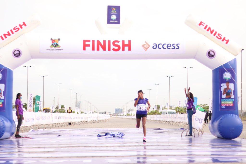 Ethiopia's Meseret Dinke Wins Lagos Metropolis Marathon 2021 Feminine Class Meseret Dinke 4