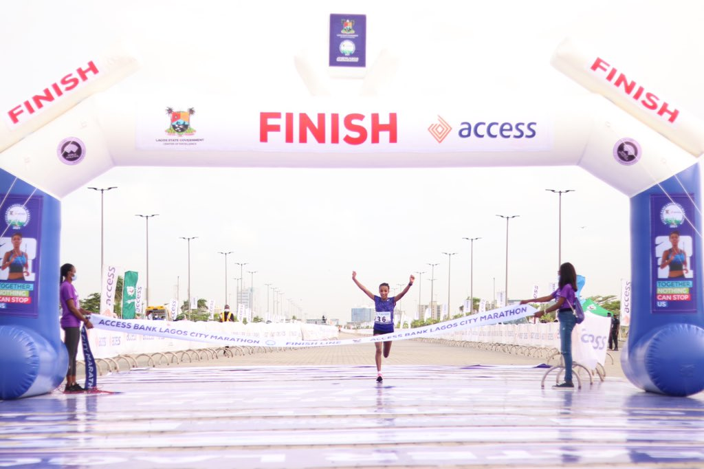 Ethiopia's Meseret Dinke Wins Lagos Metropolis Marathon 2021 Feminine Class Meseret Dinke