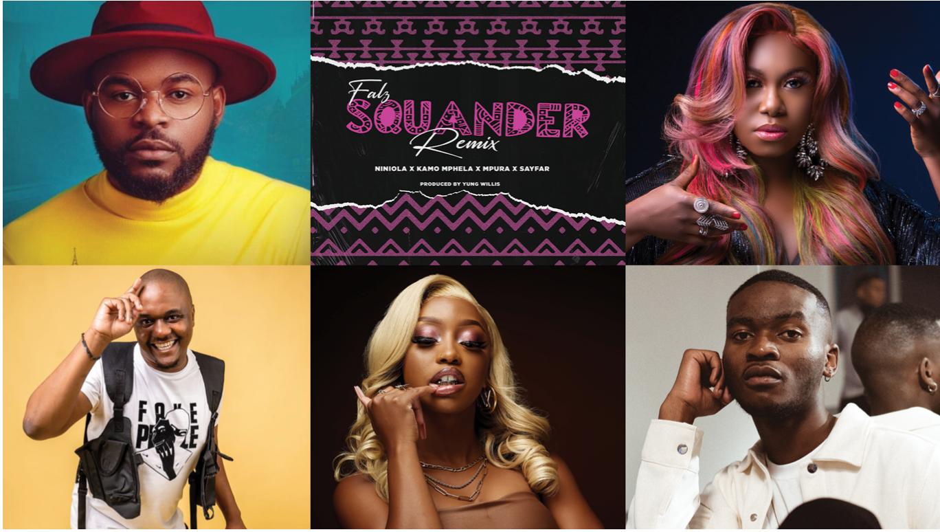 New Music: Falz feat. Niniola, Kamo Mphela, Mpura & SayFar – Squander (Remix)