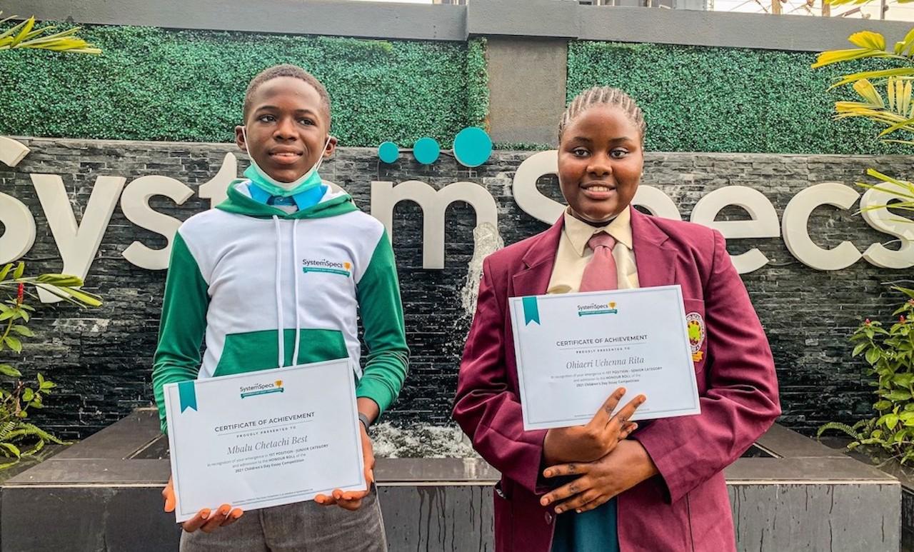 SystemSpecs rewards Nigerian Children's Ingenuity & Patriotism via Essay Competition